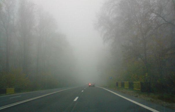 Ceață densă pe DN 7 Piteşti – Râmnicu Vâlcea