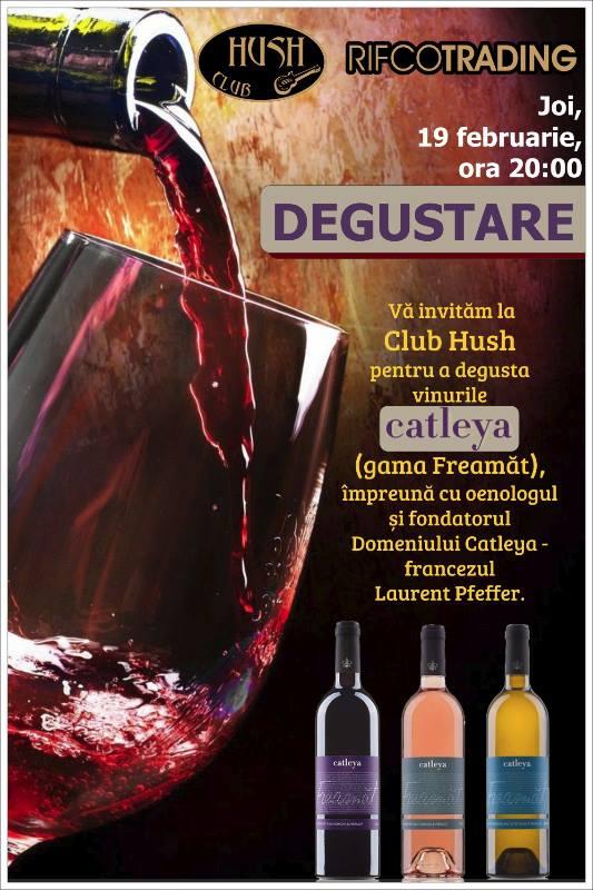 Degustare de vinuri în Club Hush