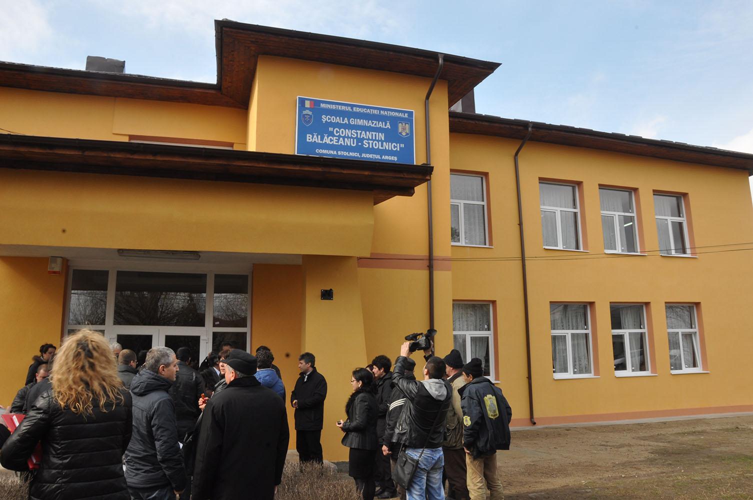 Școală nouă în comuna Stolnici