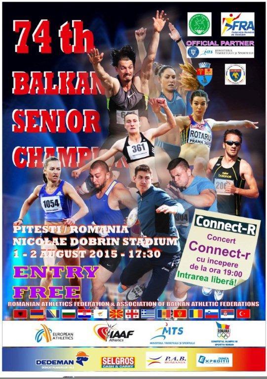 Balcaniada de Atletism pentru Seniori la Piteşti