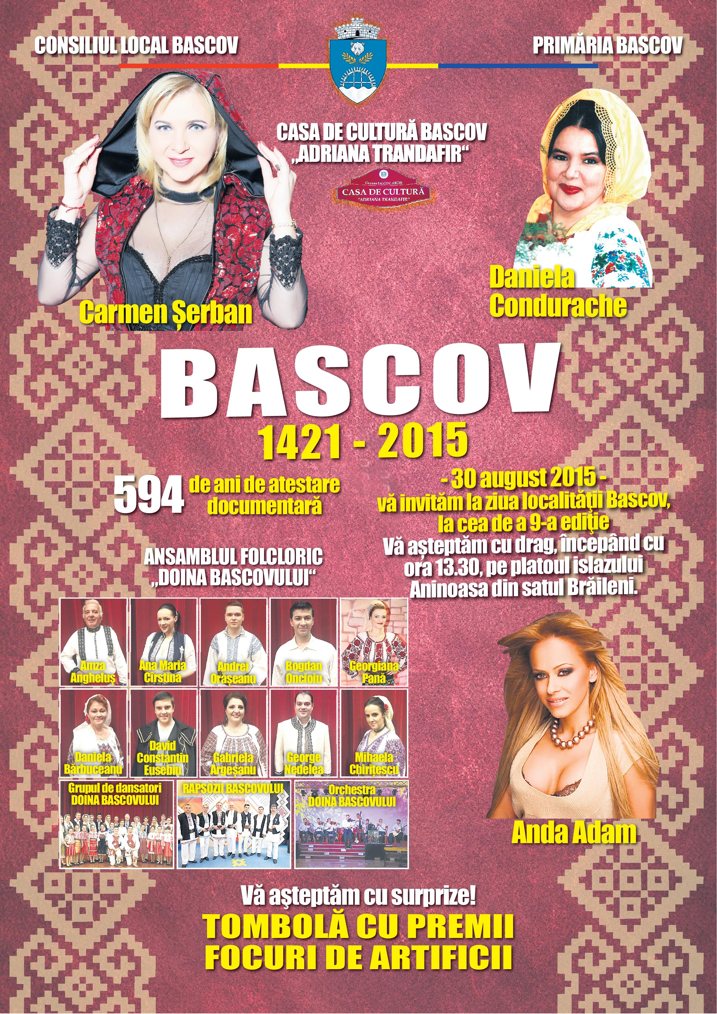 Bascovul sărbătorește duminică, 594 ani de atestare documentară