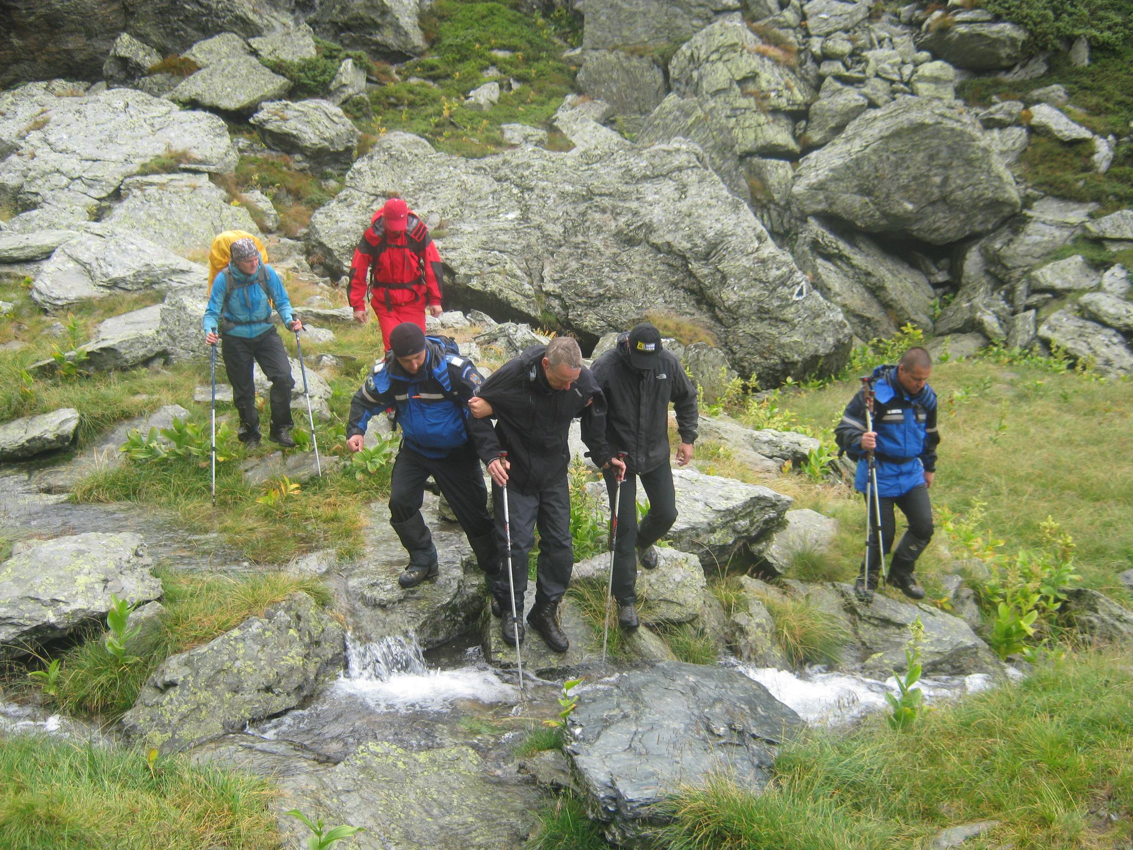 Un turist german rănit a fost recuperat de jandarmii montani și salvamontiști
