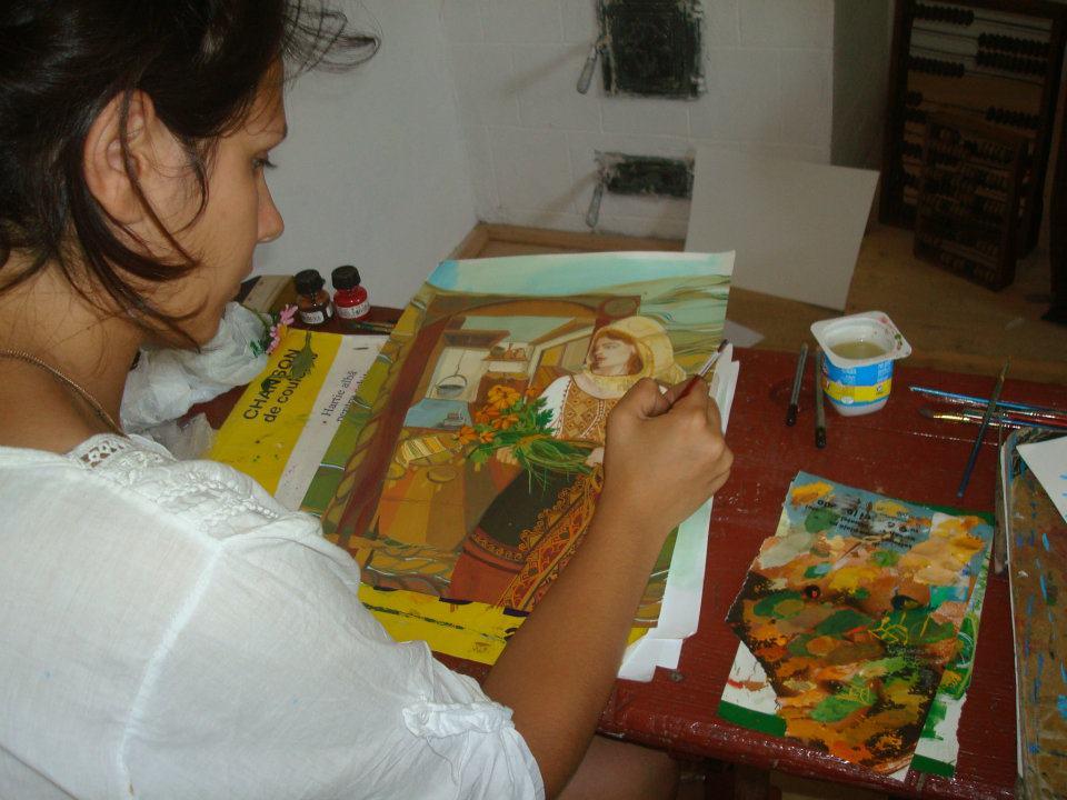 Taberă de pictură, la Muzeul Golesti