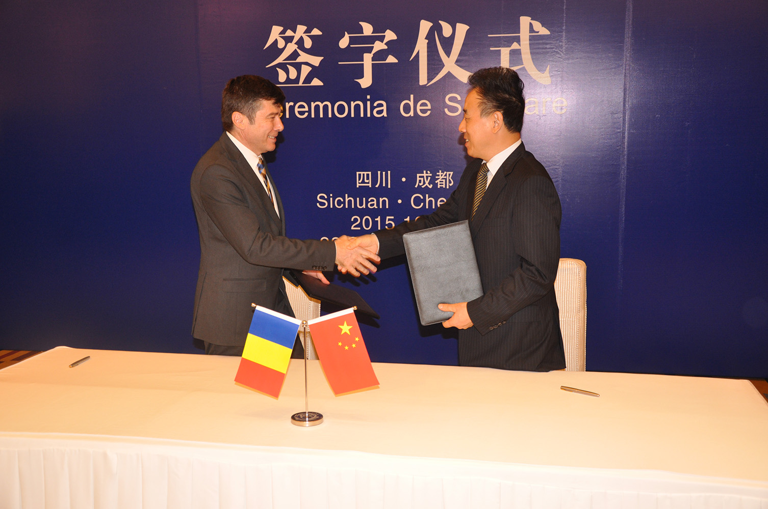 S-a semnat memorandumul de colaborare între judeţul Argeş şi Provincia Sichuan