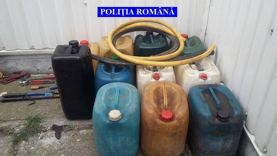 Au furat 180 de litri de combustibil