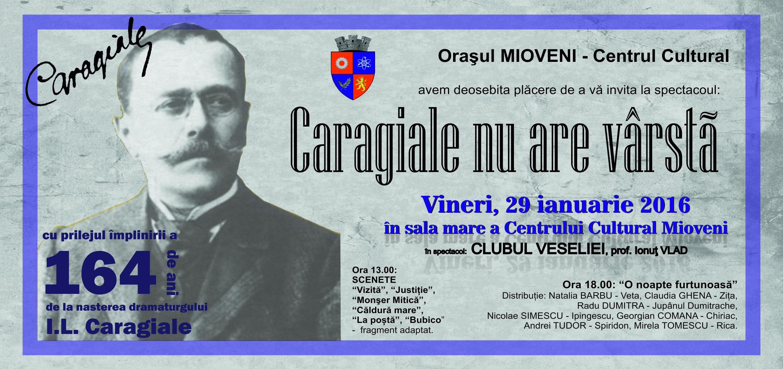 I.L. Caragiale va fi sărbătorit la Mioveni prin două spectacole de teatru