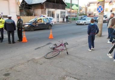 ACCIDENT -Un biciclist a lovit o femeie și a fugit de la locul accidentului