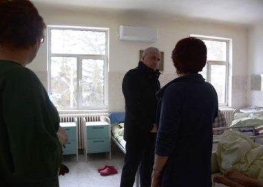 Dan Manu in vizita la Spitalul de Psihiatrie din Vedea