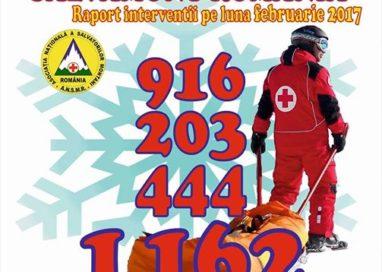 Salvamontiștii, 1162 de acțiuni de salvare și de acordare a primului ajutor