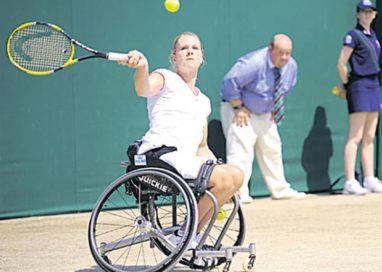 Premieră în Argeş: tenis în scaunul cu rotile