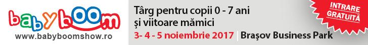 Baby Boom Show ajunge chiar în inima țării, la Brașov  – 3 – 5 Noiembrie 2017, Brașov Business Park