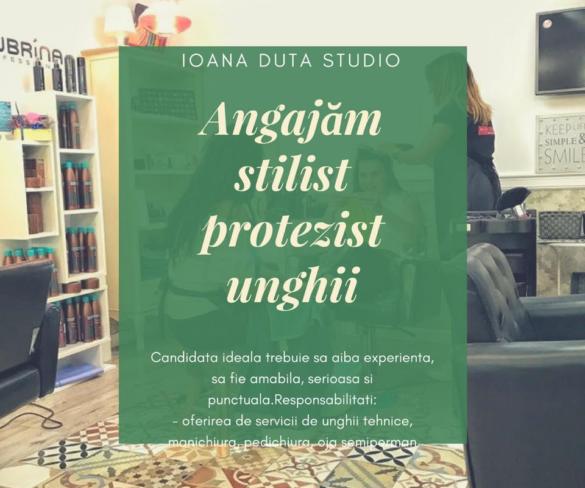 Salonul IOANA DUȚĂ STUDIO face ANGAJĂRI