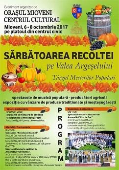 Sărbătoarea Recoltei pe Valea Argeșului, 6-8 octombrie la Mioveni