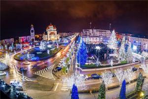 La Mioveni s-a aprins iluminatul festiv