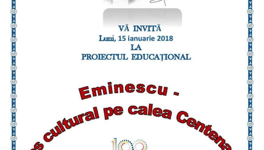 Eminescu-popas cultural în calea Centenarului
