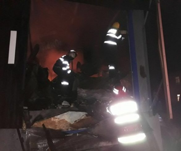 Incendiu de amploare la o fabrică de prelucare a cărnii, din complexul MGC Topoloveni, din Argeş