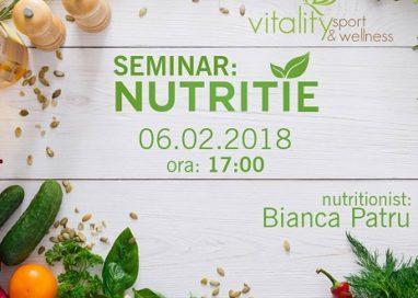 Vitality Sport & Wellness din Piteşti vă învaţă totul despre nutriţie!