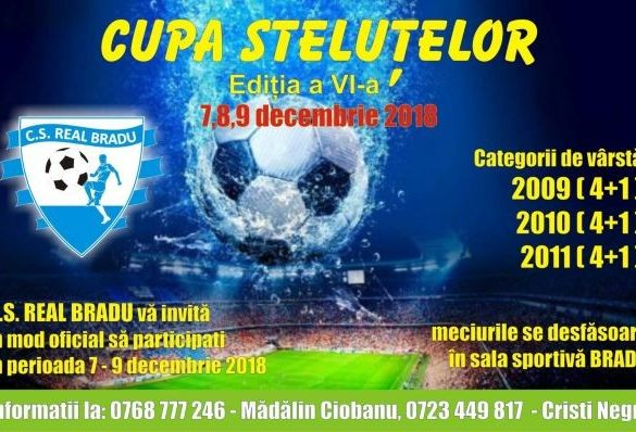 Clubul Sportiv Real Bradu organizează Cupa Steluțelor 2018